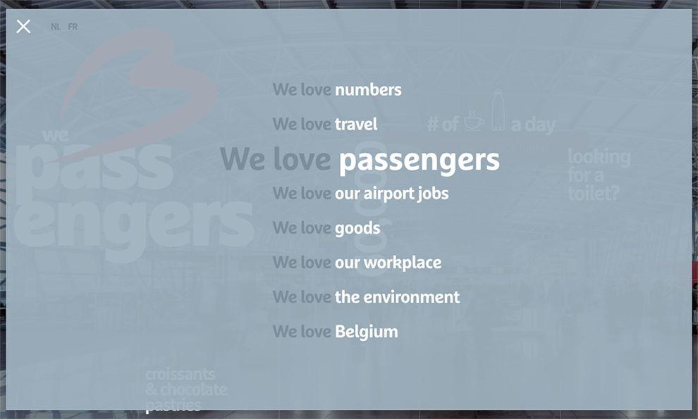 Brussels Airport Amazing Menu Design