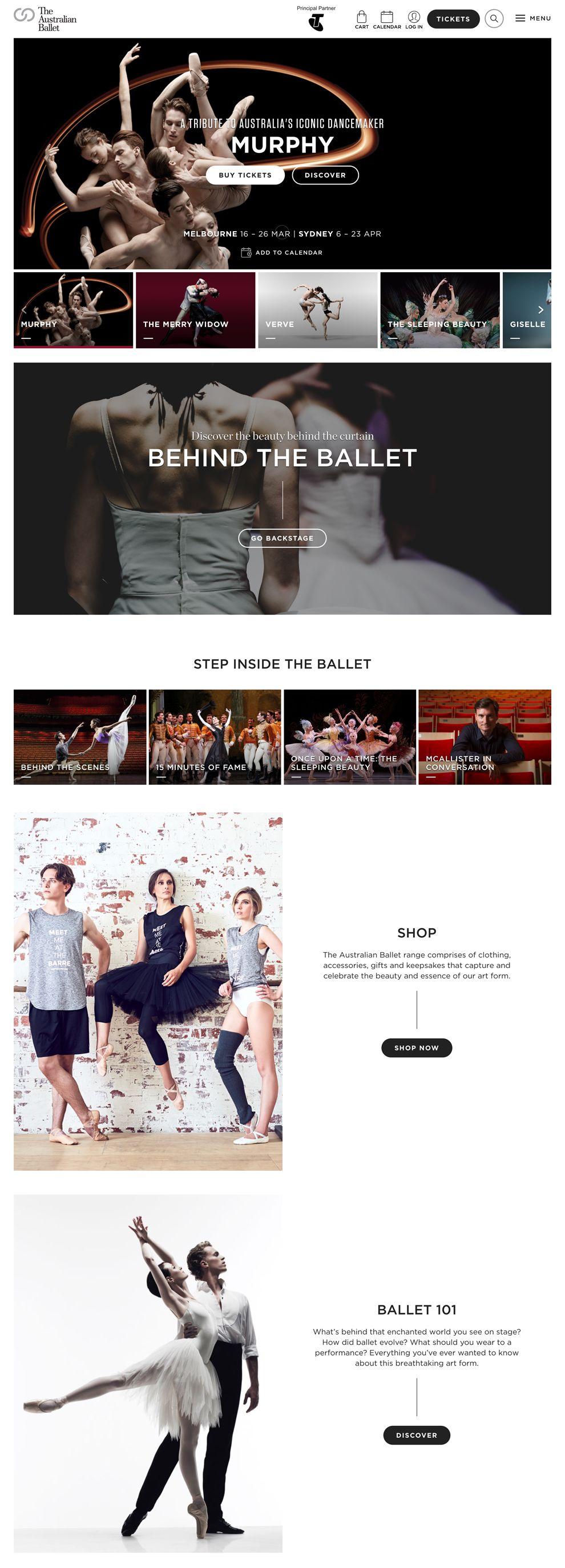 Australian Ballet Beautiful Homepage
