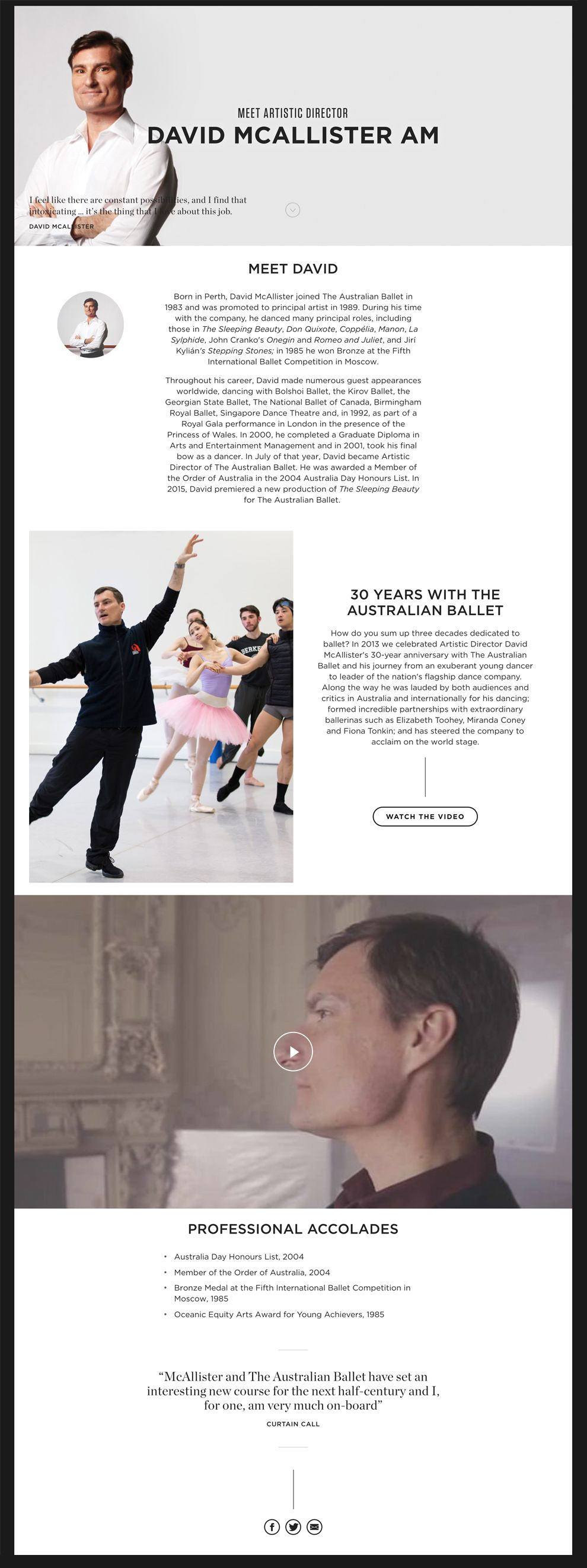Australian Ballet Beautiful About Page