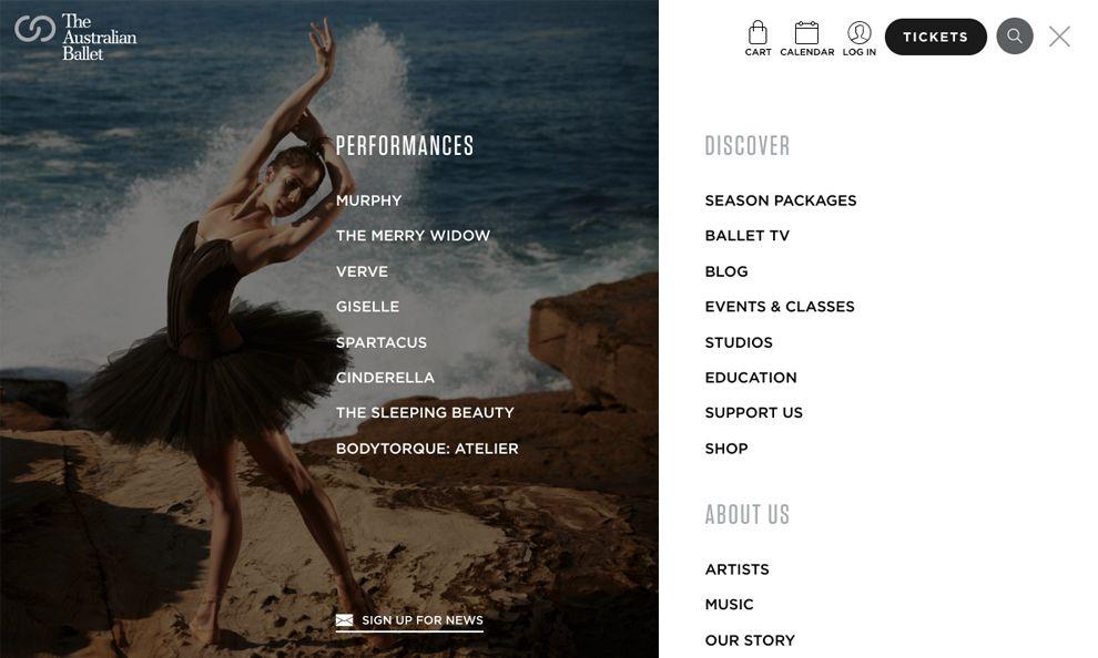 Australian Ballet Beautiful Website Design
