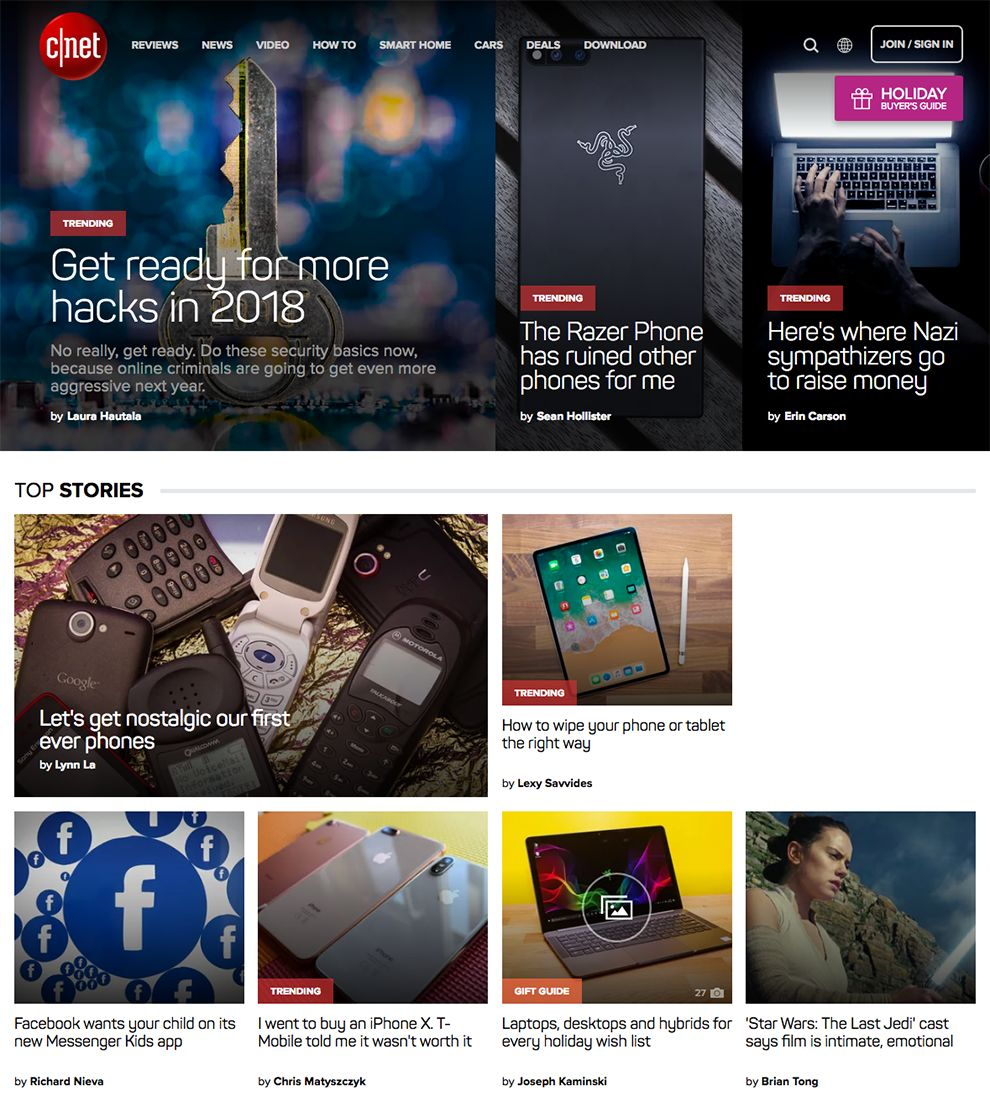 CNET Great Homepage