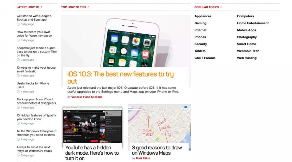 CNET Great Website Design