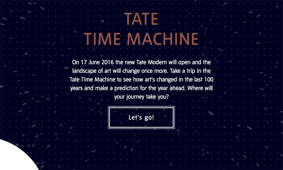Tate Time Machine Elegant Homepage