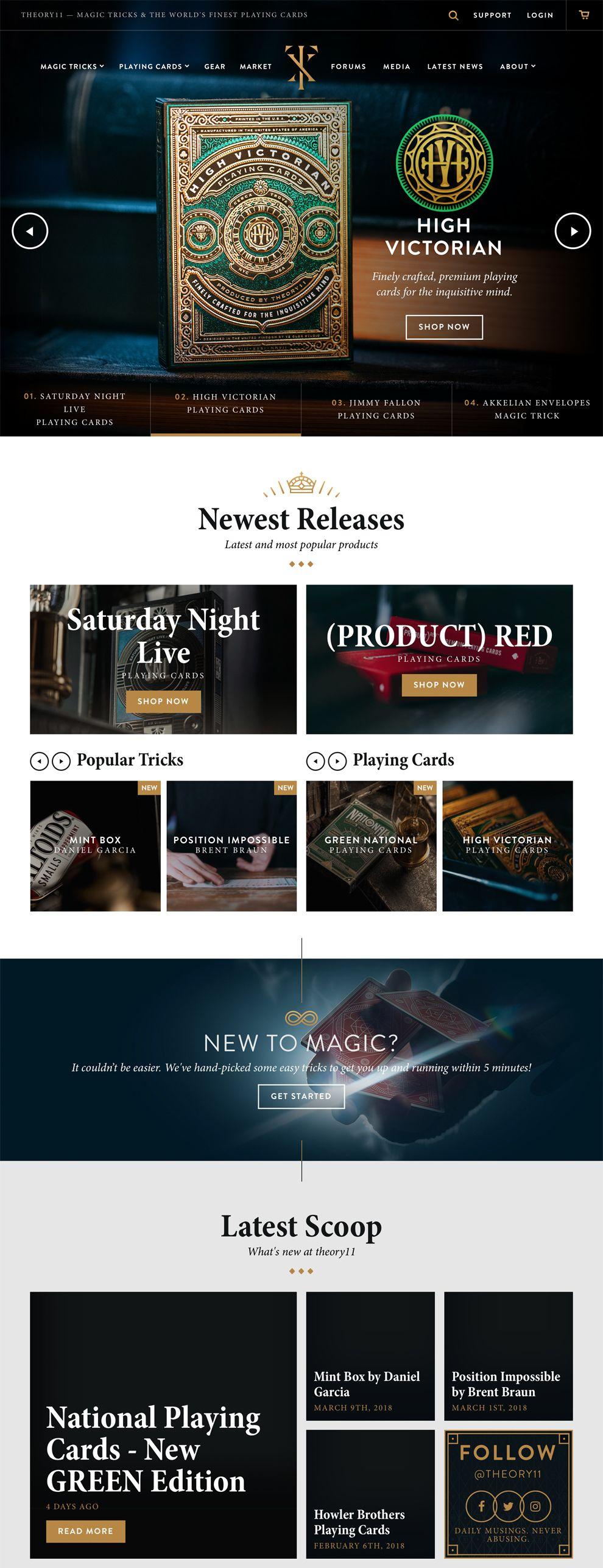 Theory 11 Beautiful Homepage