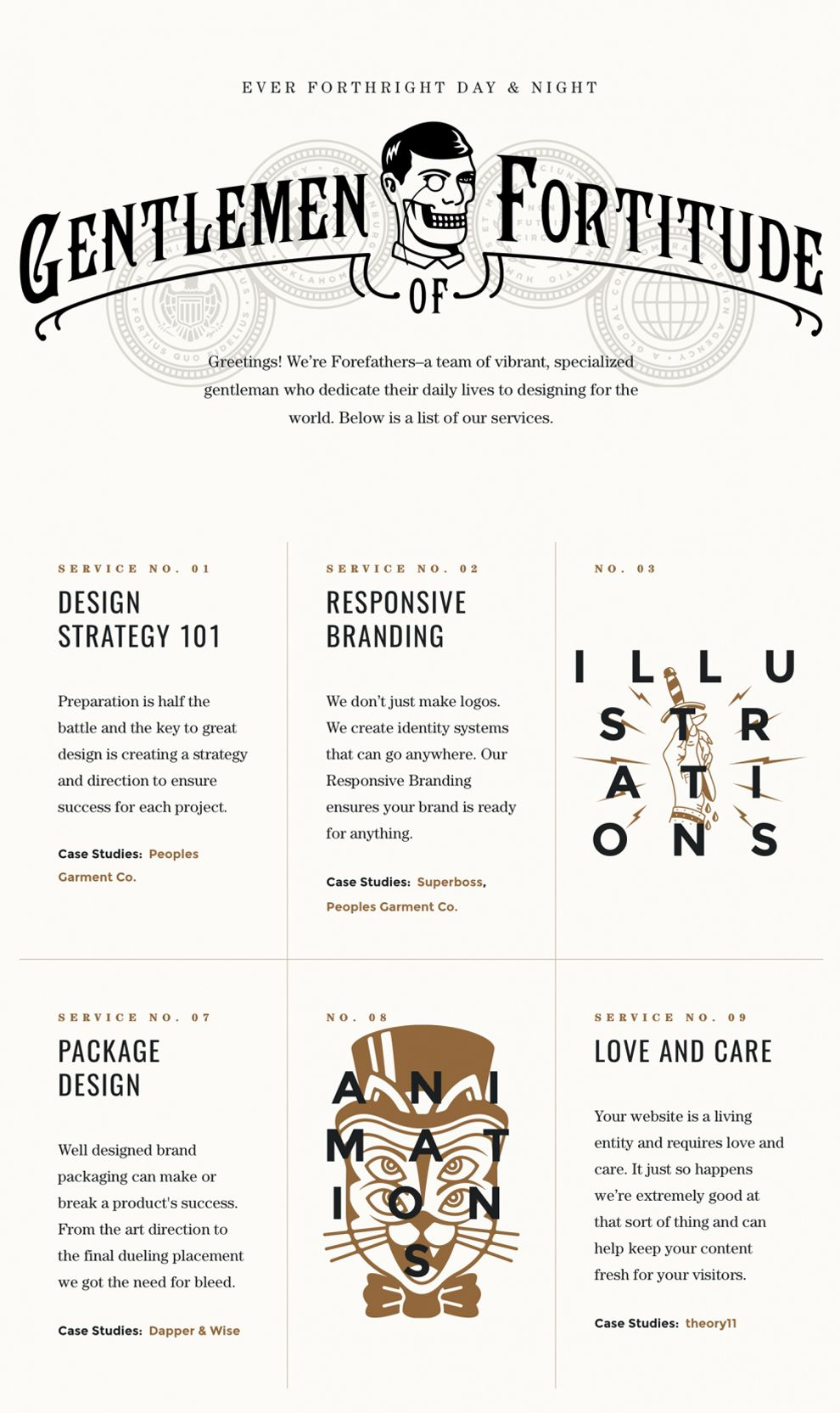 Forefathers Group Awesome Website Design