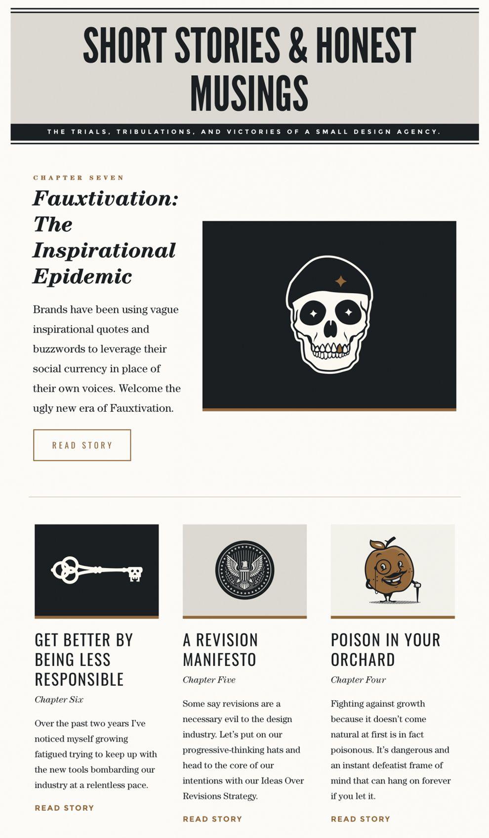 Forefathers Group Modern Vintage Website Design