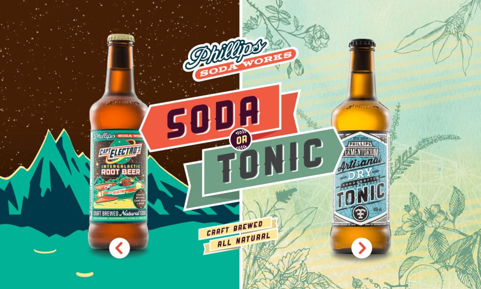 Phillips Soda Works Colorful Homepage