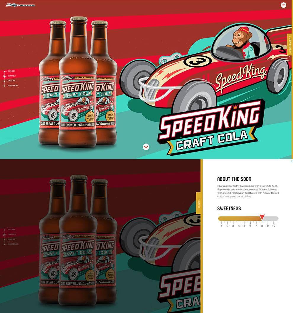 Phillips Soda Works Colorful Website Design