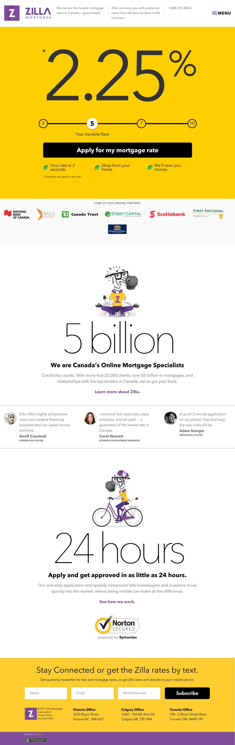 Zilla Mortgage Professional Website Design