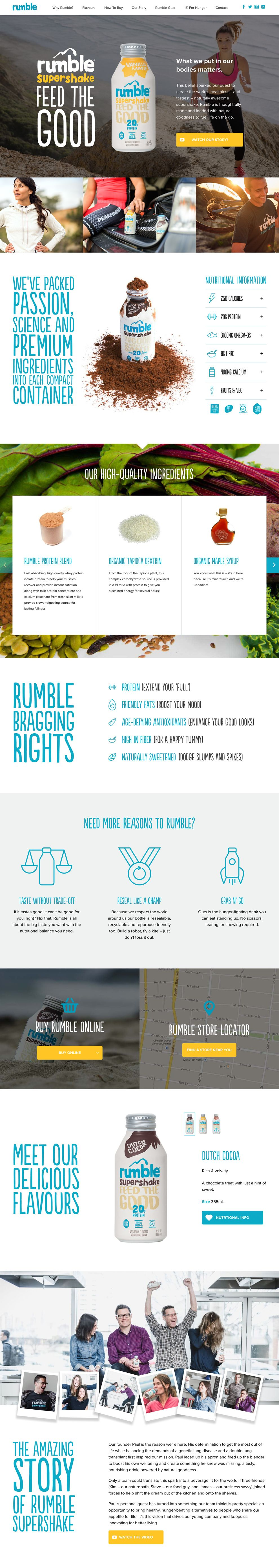 Rumble Great Website Design
