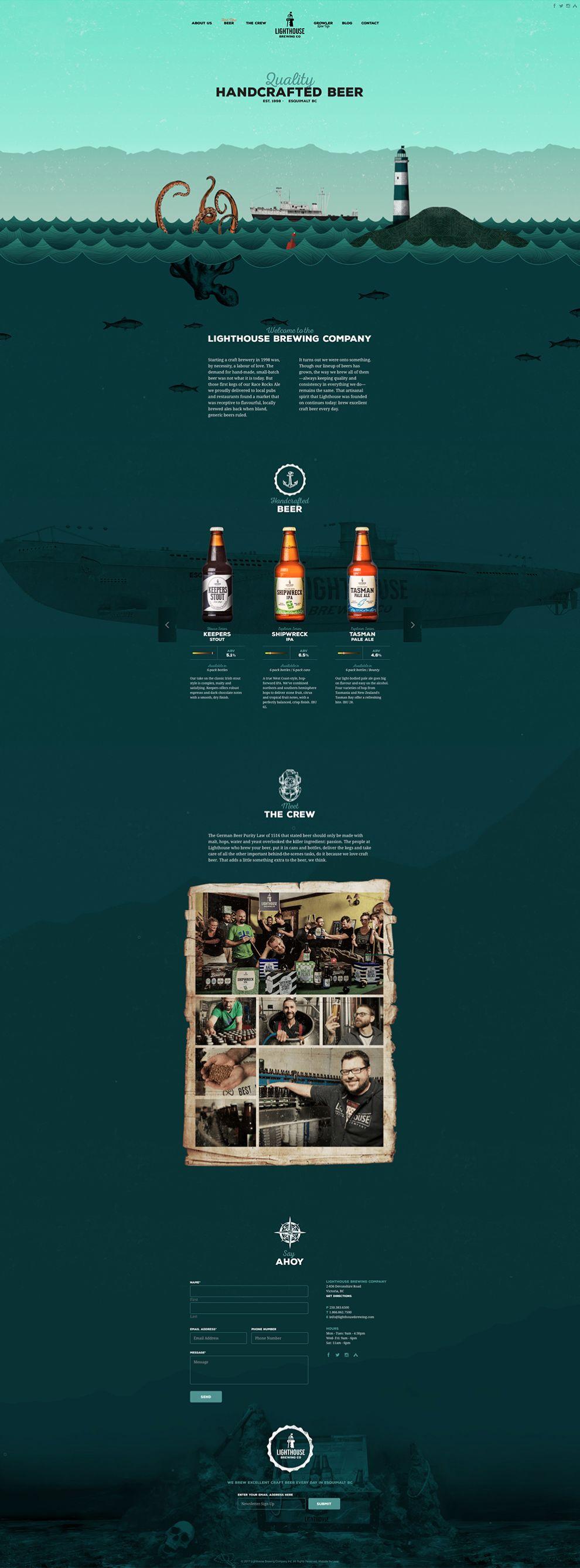 Lighthouse Brewing Company Creative Website Design