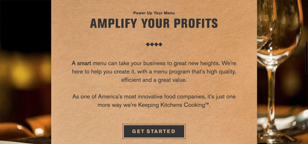 US Foods Menu Realistic-looking Elements