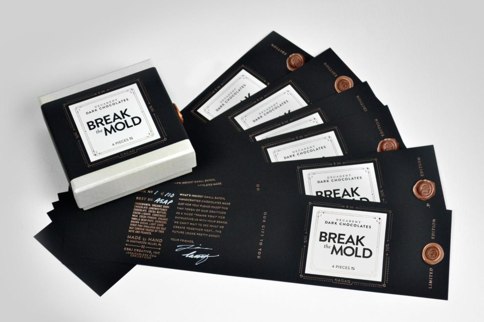 Break The Mold Simple Package Design