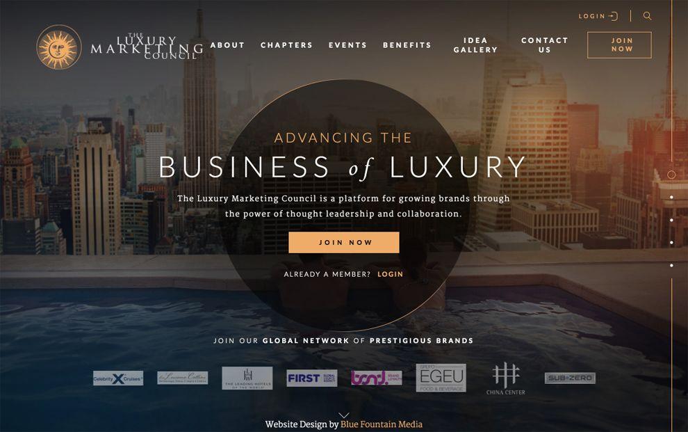 Luxury Marketing Council Elegant Homepage