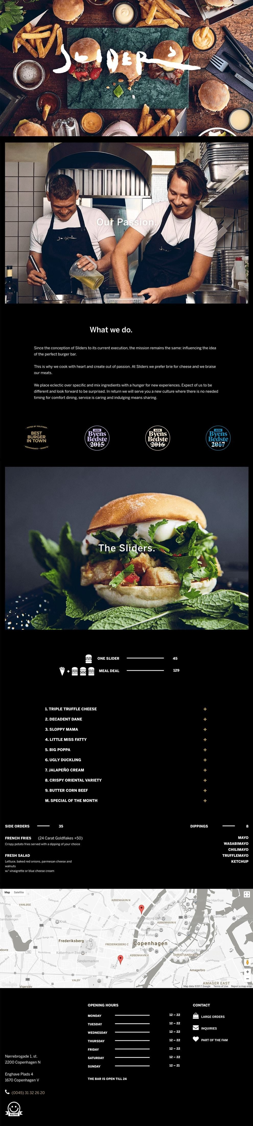 Sliders Elegant Homepage
