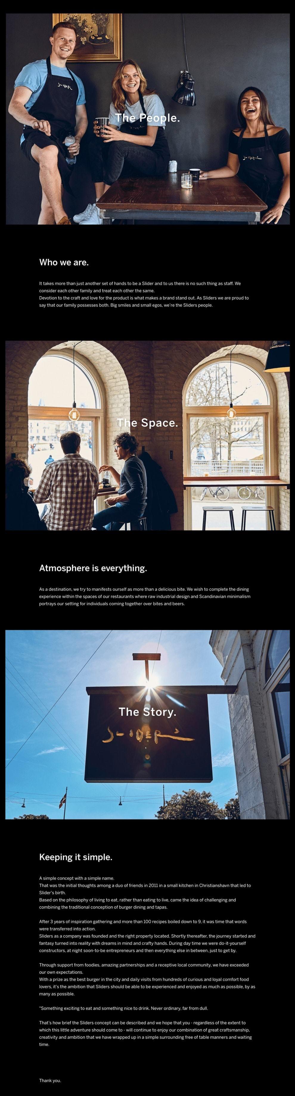 Sliders Elegant Website Design