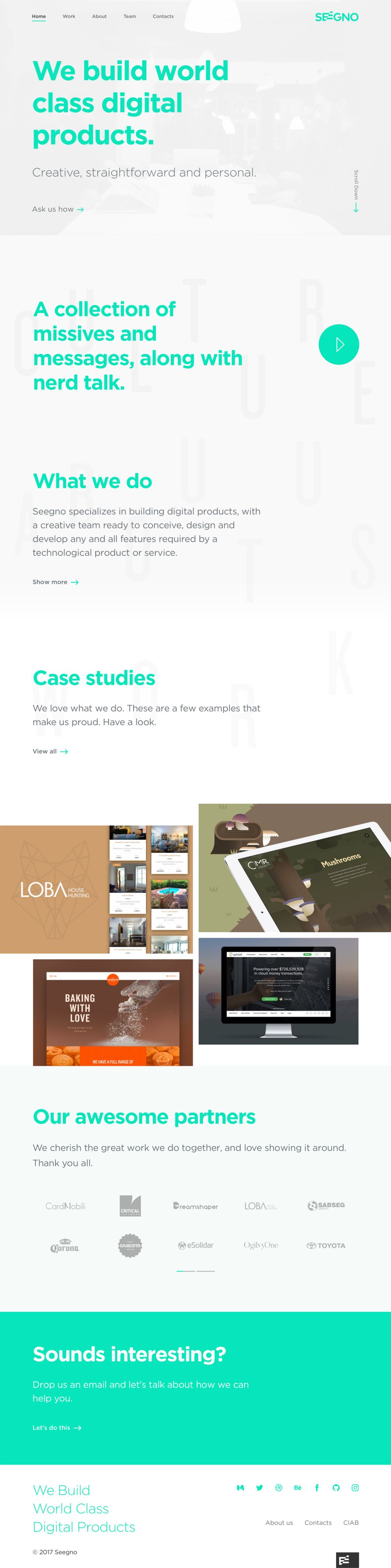 Seegno Amazing Homepage
