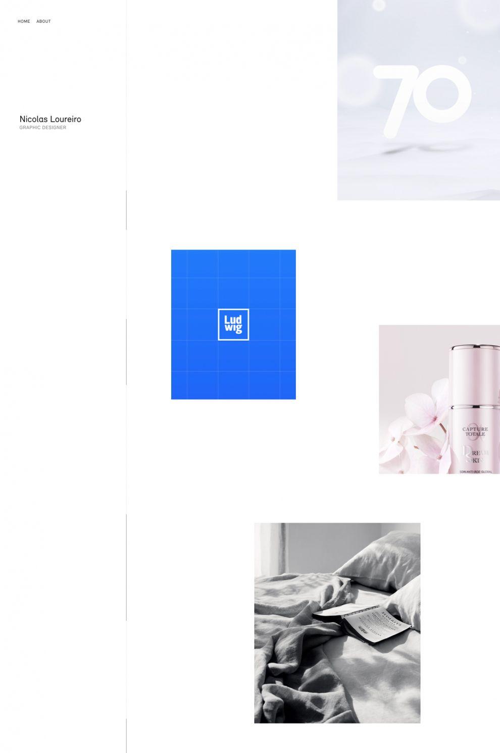 Nicolas Loureiro Clean Homepage