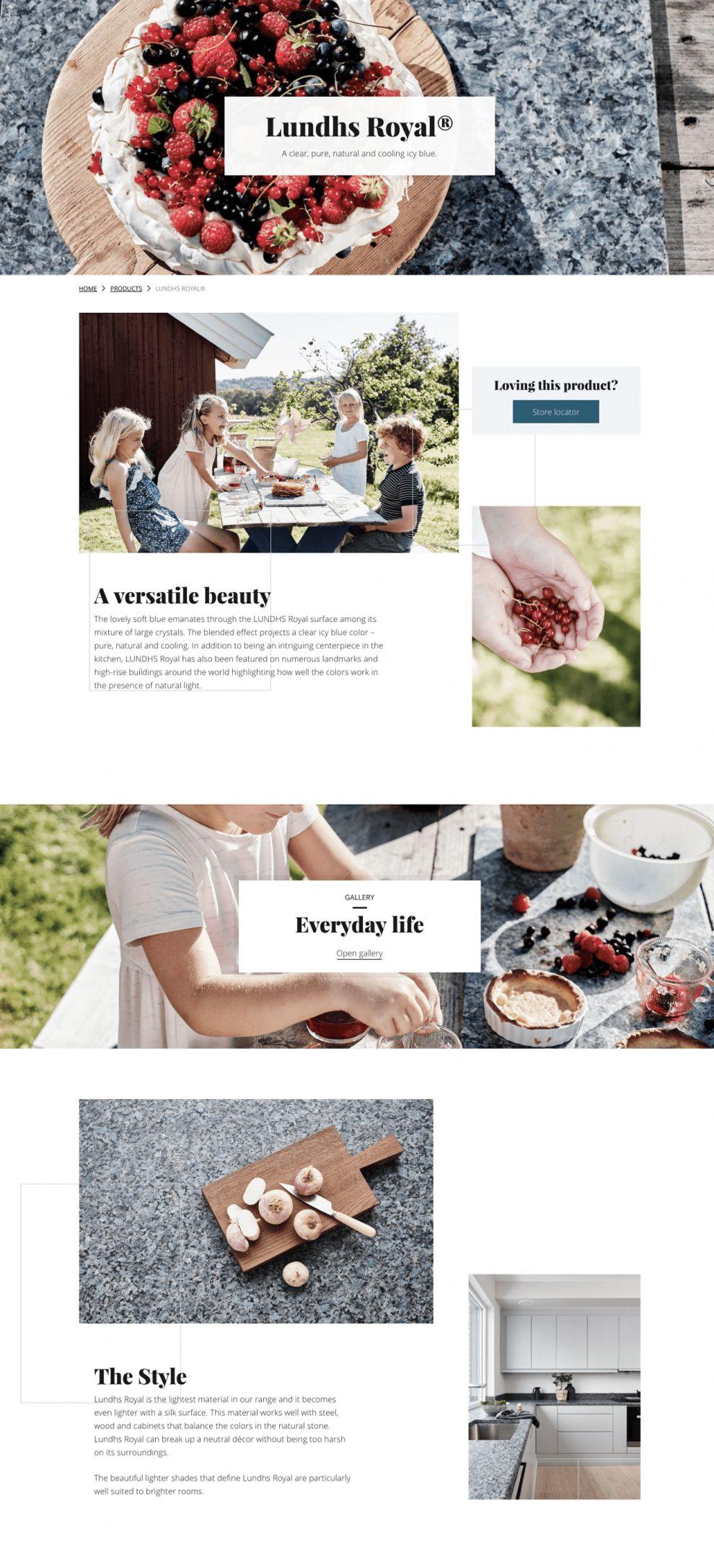 Lundhs Real Stone Elegant Website Design