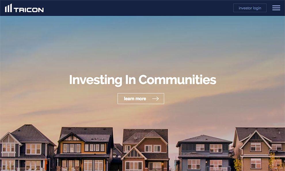 Tricon Capital Beautiful Homepage