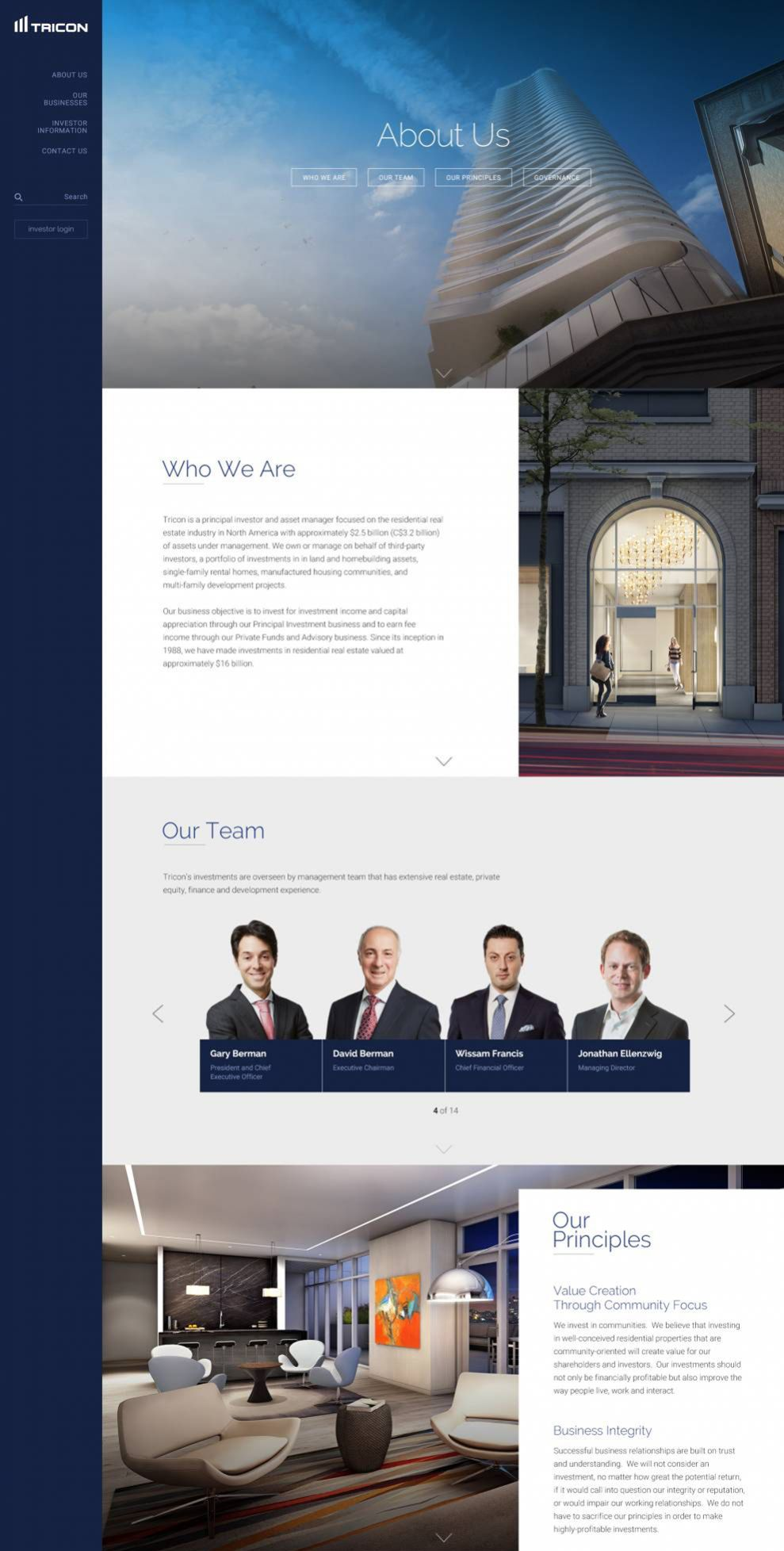 Tricon Capital Beautiful About Page