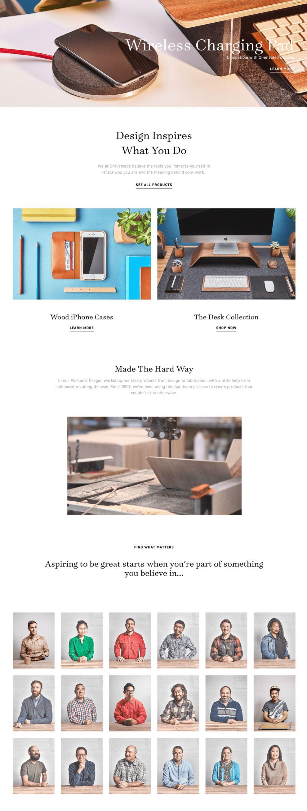 Grovemade Clean Homepage