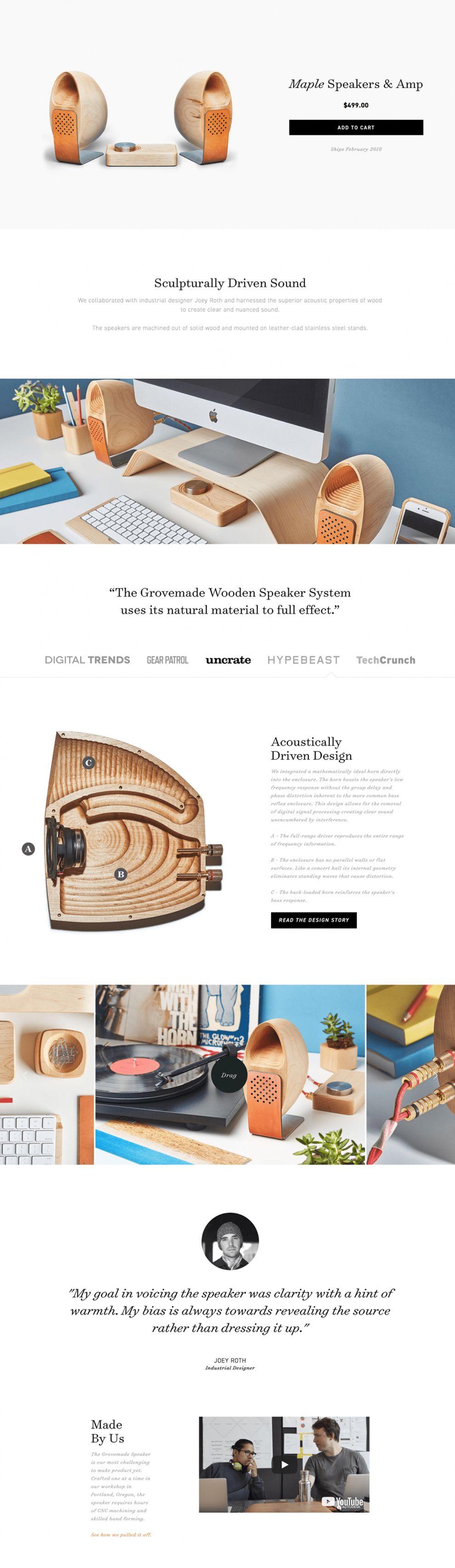 Grovemade Clean Gallery Design
