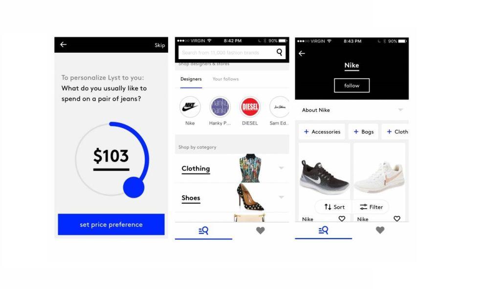 Lyst Simple App Design