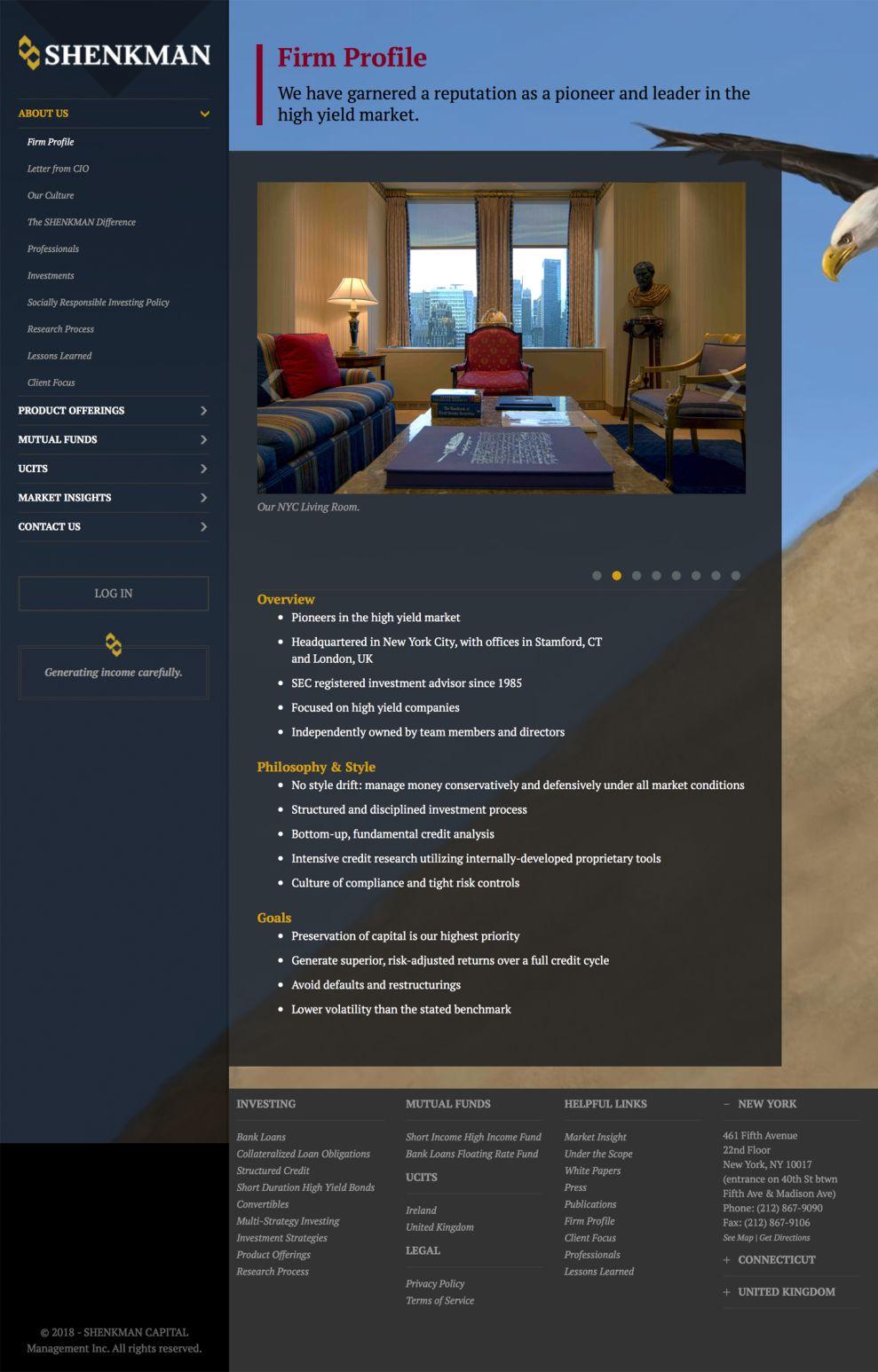 Shenkman Capital Professional Website Design