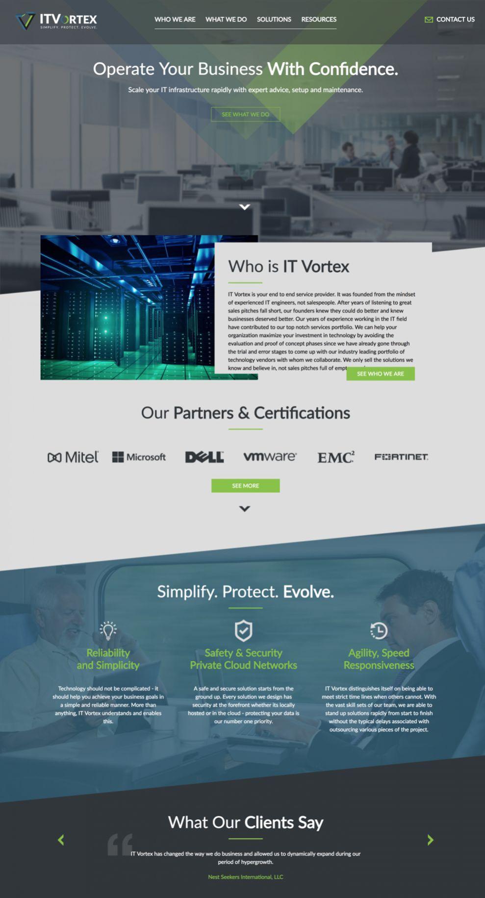 IT Vortex Corporate Homepage
