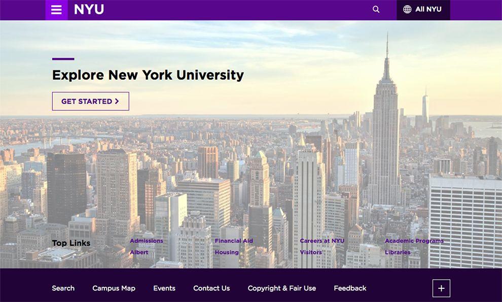 NYU Great Website Design
