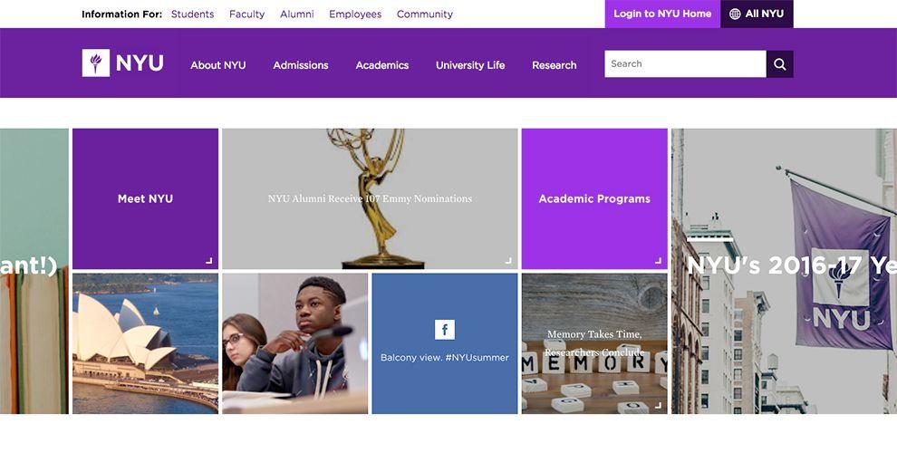 NYU Great Homepage