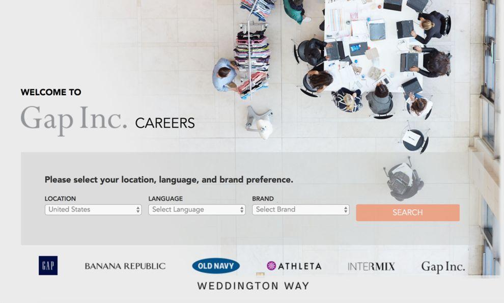 Gap Careers Great Homepage