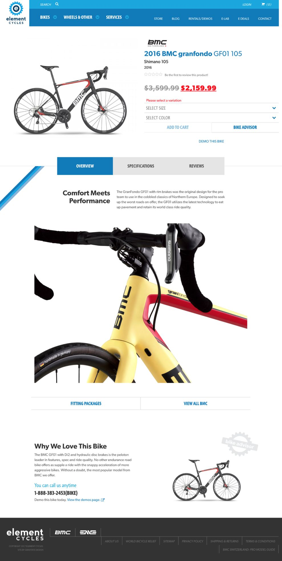 Element Cycles Clean Product Page