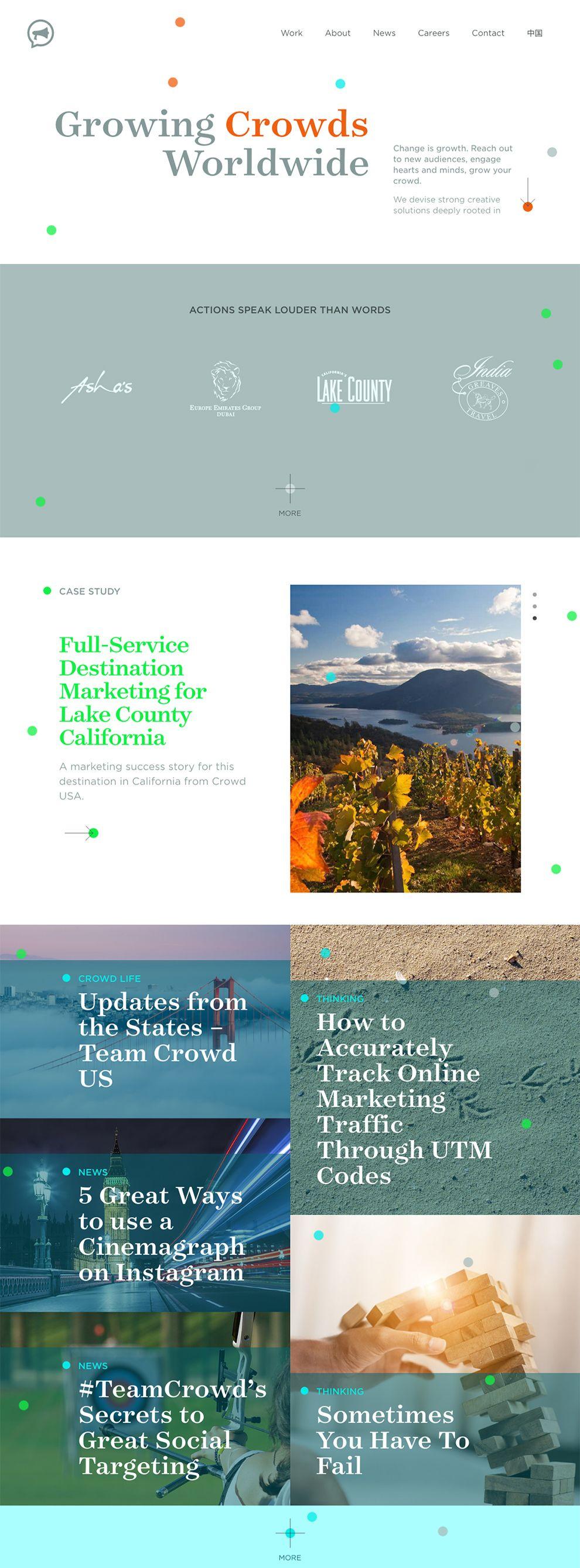 Crowd Colorful Homepage