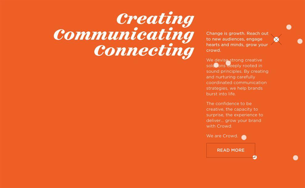 Crowd Colorful Website Design