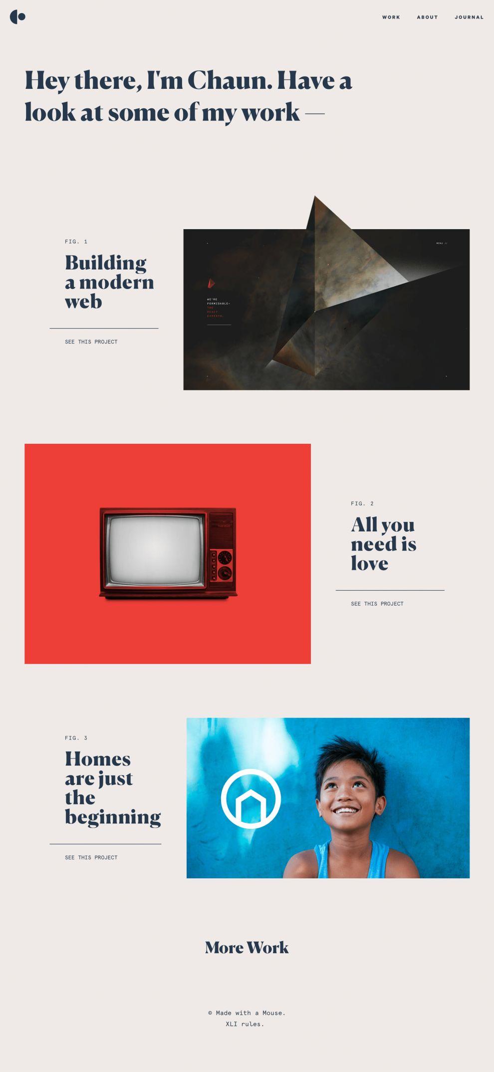 Chaun Clean Homepage