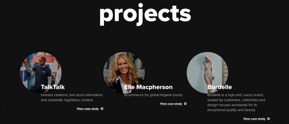 Alchemy Digital Great Projects Section