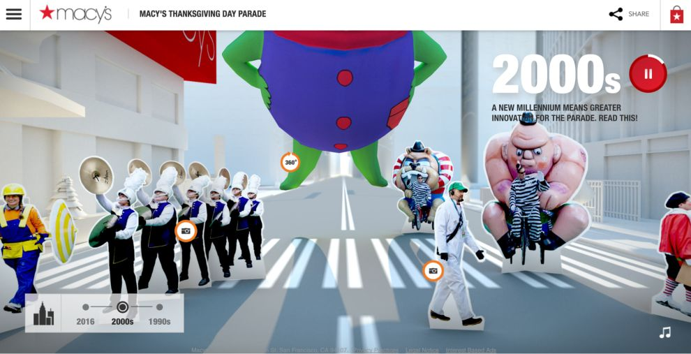 Macy's Social Parade Colorful Timeline Design