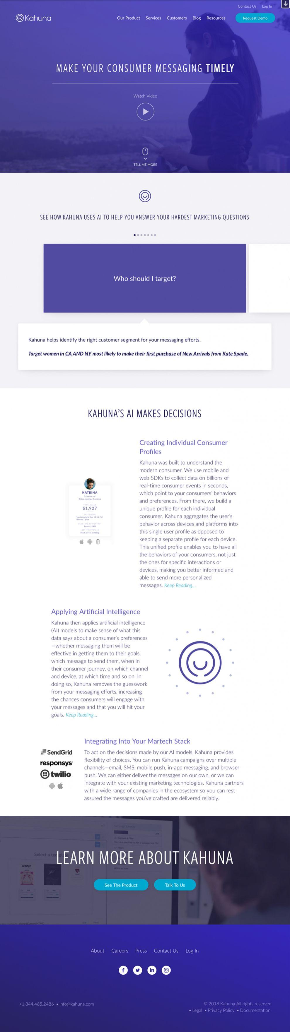 Kahuna Clean Homepage