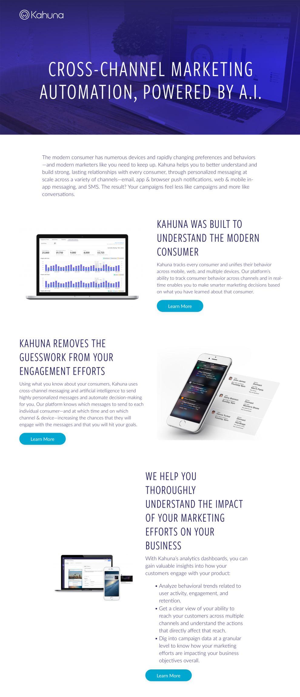 Kahuna Clean Website Design