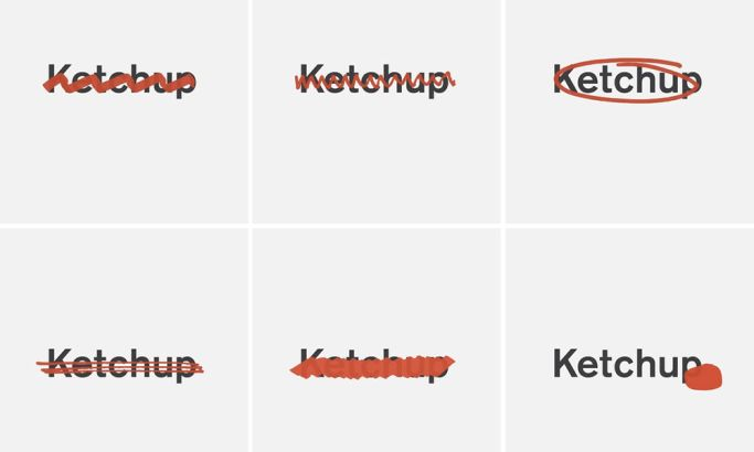 Ketchup Alternate Logo Designs
