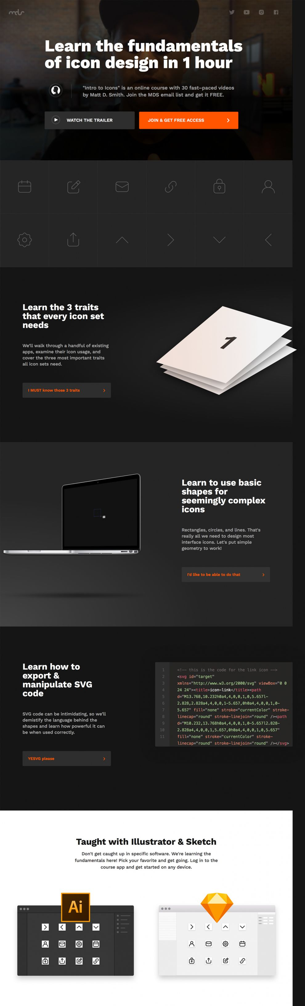 Intro to Icons Great Homepage