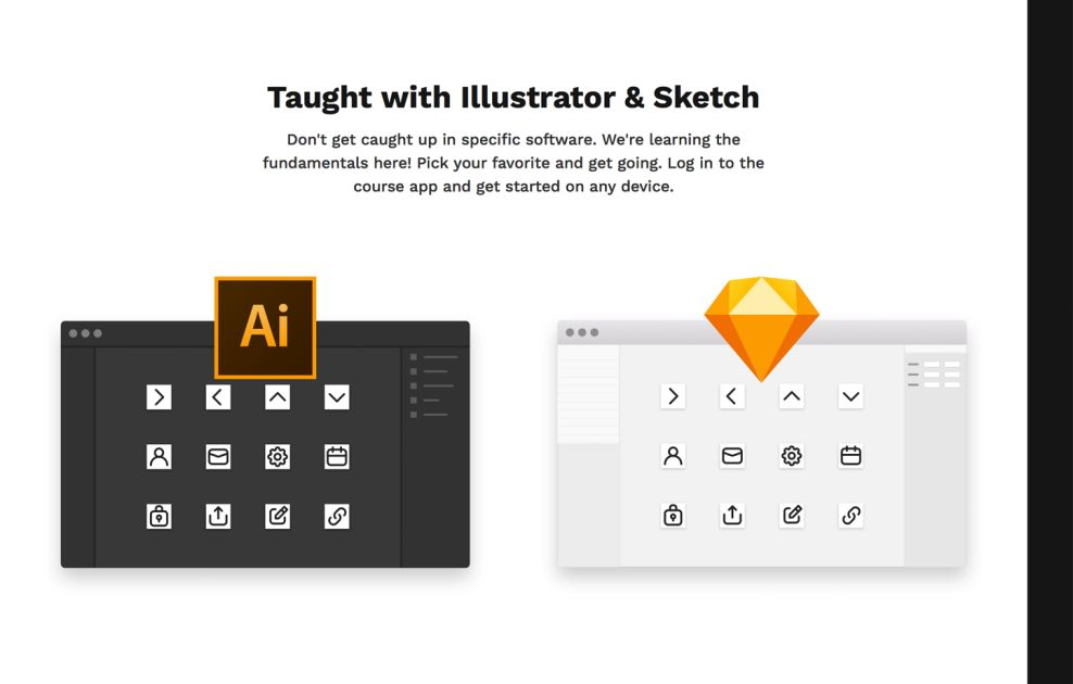 Intro to Icons Clean Website Design