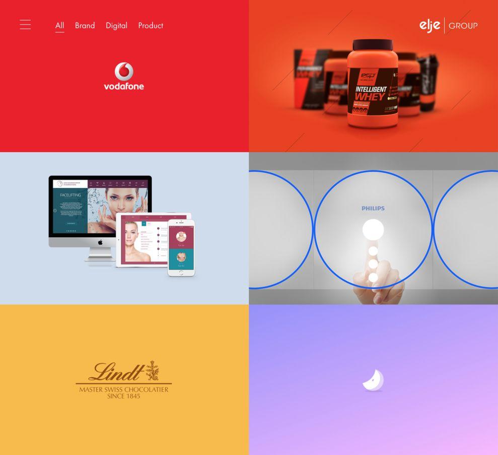 Elje Group Creative Portfolio Page
