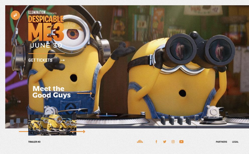Despicable Me 3 Amazing Homepage