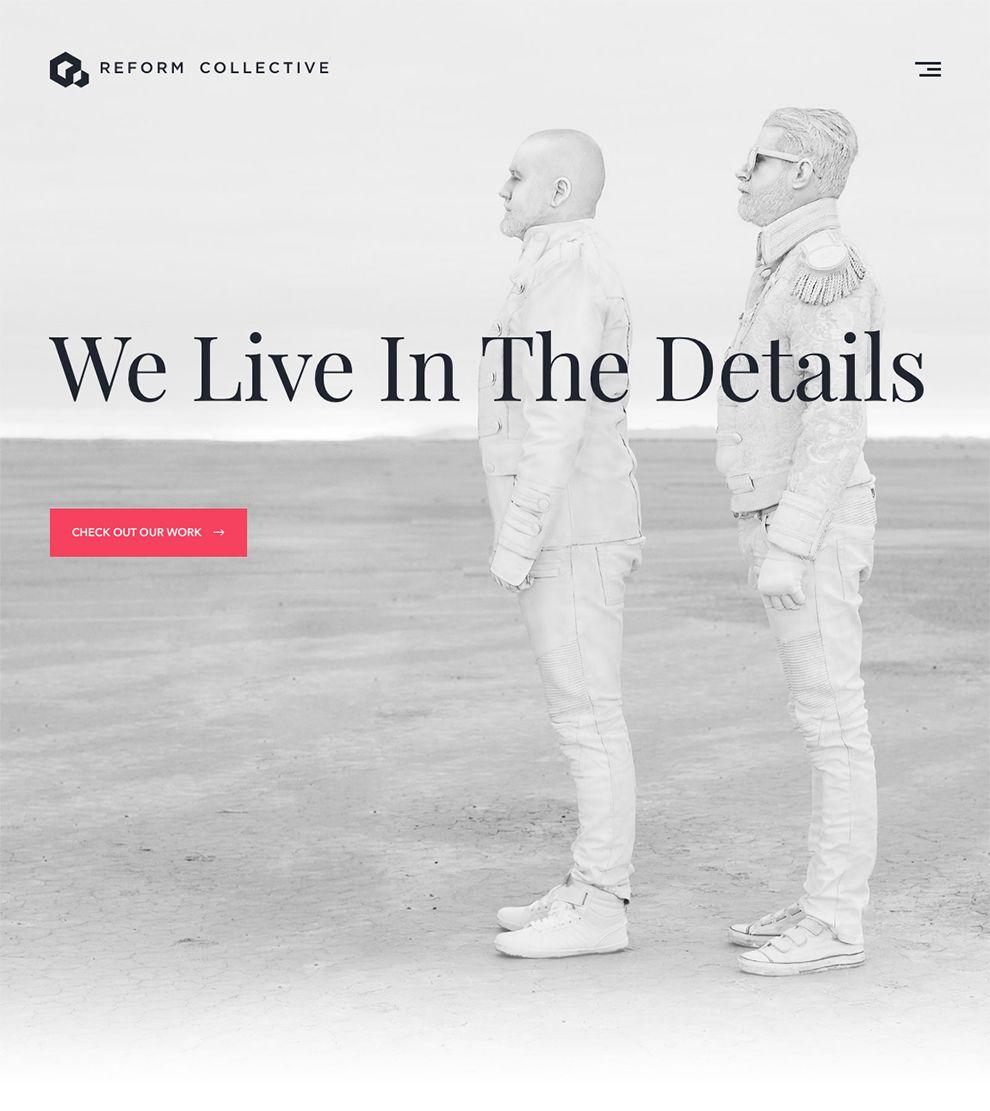 Reform Collective Amazing Homepage