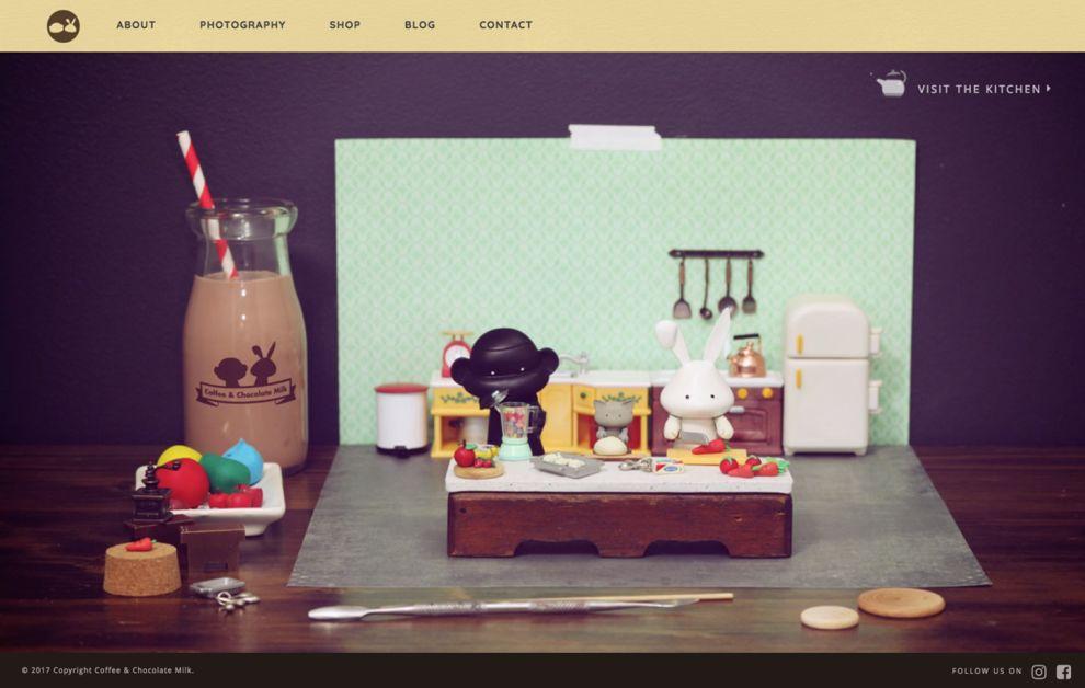 Coffee & Chocolate Milk Immersive Homepage
