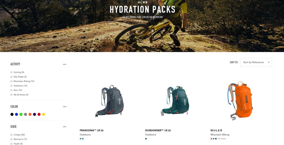 Camelbak Great Product Page