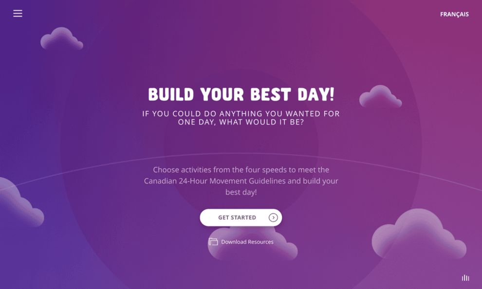 Build Your Best Day Creative Homepage